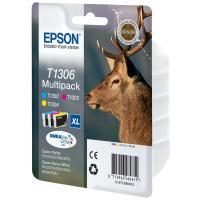 Cartucho tinta epson t1306 - multi-pack cian/magenta/amarillo - 30.3ml - ciervo