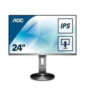 "MONITOR LED IPS 23.8"" AOC I2490PXQU/BT NEGRO/PLATA"