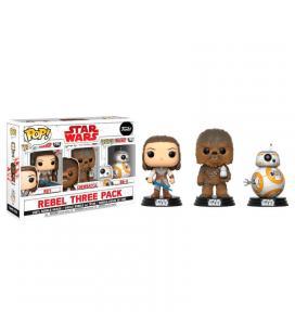 Set 3 figuras POP! Star Wars VIII The Last Jedi Good Guys Exclusive