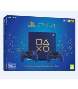 Consola sony ps4 500gb edicion limitada days of play azul 2 mandos dualshock - Imagen 1