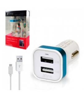 X-One Cargador Coche USB 2.1A + Cable Micro USB