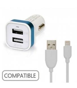 X-One Cargador Coche USB 2.1A + Cable Lightning - Imagen 1