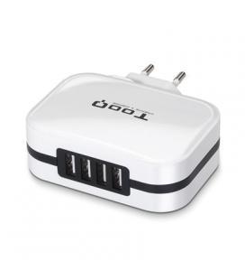 TooQ TQWC-1S04WT Cargador de pared 4 USB Blanco