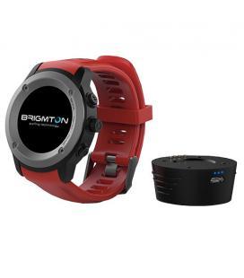 "Brigmton BWATCH-100GPS 1.3"" IPS GPS (satélite) Negro, Rojo reloj inteligente"