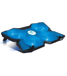 Soporte refrigerador spirit of gamer airblade 500 blue - para portátiles hasta 17.3'/43.9cm - ventiladores 4x12cm - iluminación