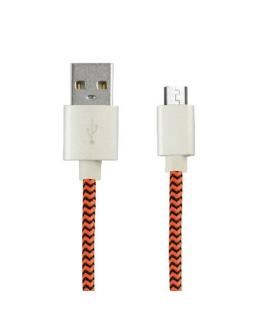 CABLE USB(A) A MICRO USB(B) KSIX BXCUSBTNJ NARANJA