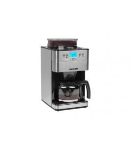 MEDION MD 16893 Independiente Totalmente automática Cafetera de filtro 1.25L 10tazas Negro, Plata