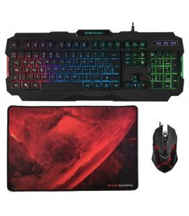 Mars Gaming Tecla+Ratón4000DPI+Alfombrilla Rainbow - Imagen 1