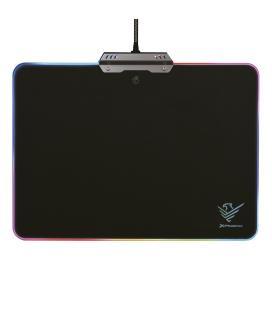 Alfombrilla gaming rgb / 10 modos de iluminacion / rigida / usb / negro