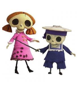 Set 2 figuras Collector Doll Skeleton Boy and Girl - La Novia Cadaver - Imagen 1