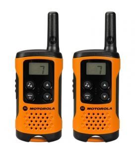 MOTOROLA T41 Walkie Talkie 4Km 8CH Naranja - Imagen 1