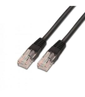 CABLE RED UTP CAT5E RJ45 AISENS 0,5M NEGRO
