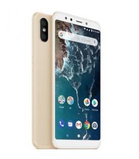 "Telefono movil smartphone xiaomi mi a2 gold 6.99""/ 32gb ram/ 4gb rom/ dual camera 12+20 mpx/ camara delantera 20 mpx/ 18:9 / hue"
