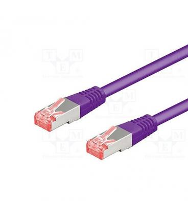 CABLE RED S/FTP CAT6 RJ45 GOOBAY 5M VIOLETA - Imagen 1