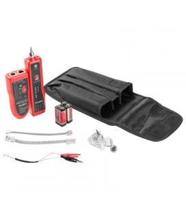 Tester identificador para cableado lanberg nt-0501 - cable rj11/rj45 - cable con pinzas -auriculares - baterias