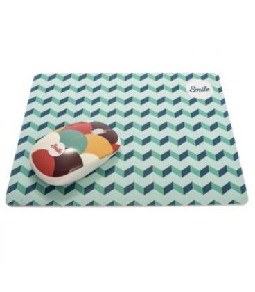 Alfombrilla smile silicon pro mouse pad blue geometric - Imagen 1