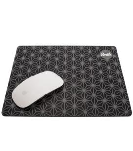 Alfombrilla smile silicon pro mouse pad black geometric
