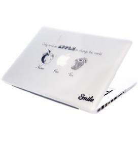 "Carcasa smile para portatil macbook 13"" unibody smile steve apples"