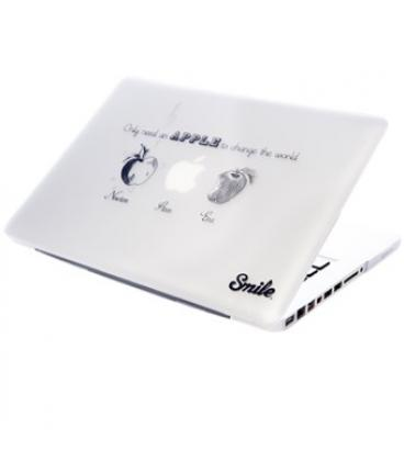 "Carcasa smile para portatil macbook 13"" unibody smile steve apples - Imagen 1"