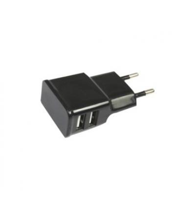 Adaptador cargador de corriente silver ht para ipad y tablet/ 2 usb/ 10w/ 2a/ negro - Imagen 1