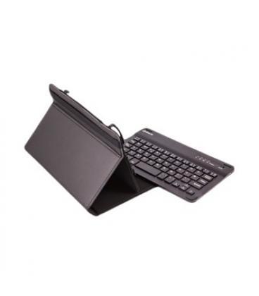 """Funda universal gripcase silver ht para tablet 7"""" + teclado bluetooth negro - Imagen 1"""