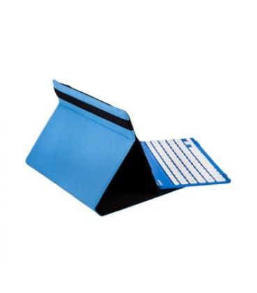 """Funda universal gripcase silver ht para tablet 9-10"""" + teclado bluetooth azul - Imagen 1"""