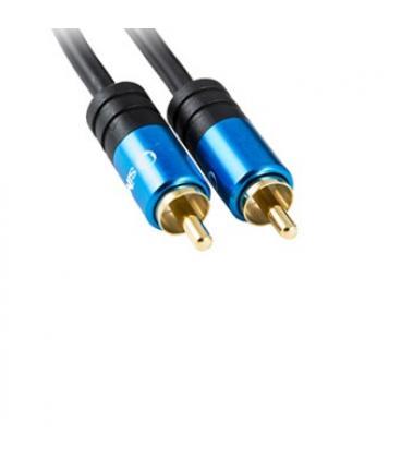Cable digital coaxial silver ht high end 2 1rca/ macho-macho/ 2m/ negro - Imagen 1