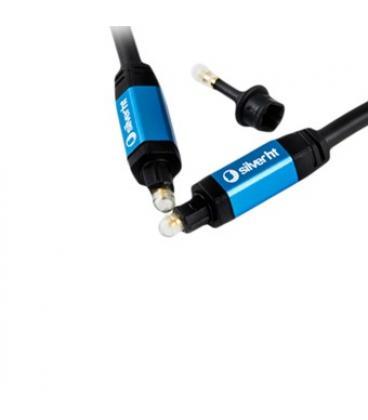 Cable silver ht high end 2 fibra optica + adaptador jack 3.5mm/ macho-macho/ 2.5m/ negro - Imagen 1