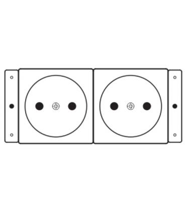 Kramer Electronics TS-2DE toma de corriente - Imagen 1