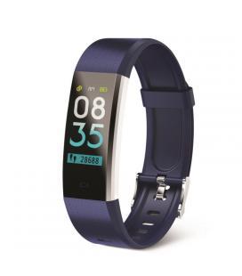 Pulsera de actividad muvit io health tensio lite azul - lcd táctil color 2.44 cm - bt 4.0 - pulsómetro - presión sanguínea -