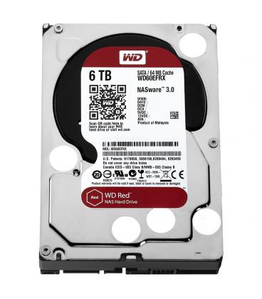 HDD WD NAS 3.5'' 6TB 5400RPM 64MB SATA3 RED - Imagen 1