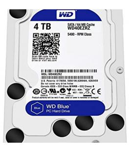 HDD WD 3.5'' 4TB 5400RPM 64MB SATA3 BLUE