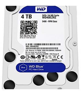 HDD WD 3.5'' 4TB 5400RPM 64MB SATA3 BLUE