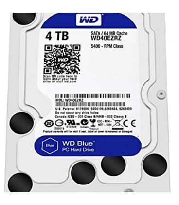 HDD WD 3.5'' 4TB 5400RPM 64MB SATA3 BLUE - Imagen 1