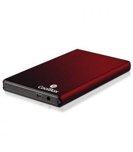 """CAJA HDD COOLBOX SLIMCHASE 2520 2.5"""" SATA USB2.0 ROJA"""