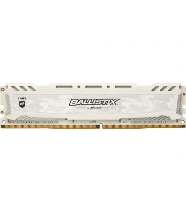 MEMORIA CRUCIAL DIMM DDR4 8GB 2400MHZ (PC4-19200) CL16 SR BALLISTIX SPORT LT WHITE - Imagen 1