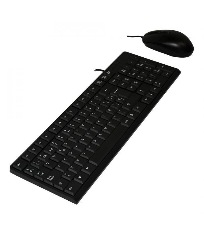 Combo Teclado//Raton UNYKA 50535 USB Negro