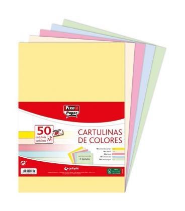 PAQUETE 50 CARTULINAS 4 COLORES - Imagen 1