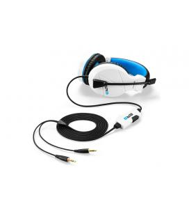 Sharkoon RUSH ER3 Binaural Diadema Negro, Azul, Blanco auricular con micrófono