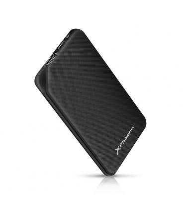 Bateria externa portatil power bank 5000mah 1a 1 usb y tipo c phoenix negra - Imagen 1