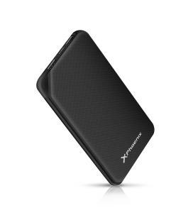 Bateria externa portatil power bank 10000mah 2a 2 usb y tipo c phoenix negra