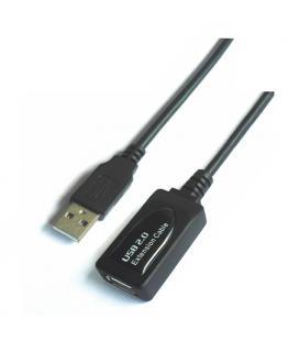 Cable USB 2.0 prolongador con amplificador. tipo A/M-A/H. negro. 10m