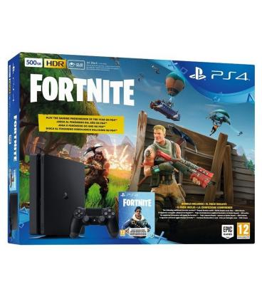 CONSOLA SONY PLAYSTATION 4 SLIM 500GB + JUEGO FORTNITE