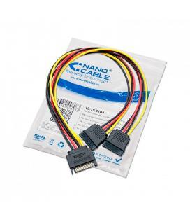 CABLE MOLEX/SATA ALIMENTACION NANO CABLE MOLEX/M - 2XSATA/H 0,2M
