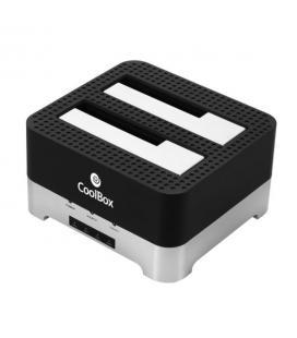BASE CONECTORA HDD/SSD COOLBOX 2.5''/3.5'' SATA USB3.0 NEGRA
