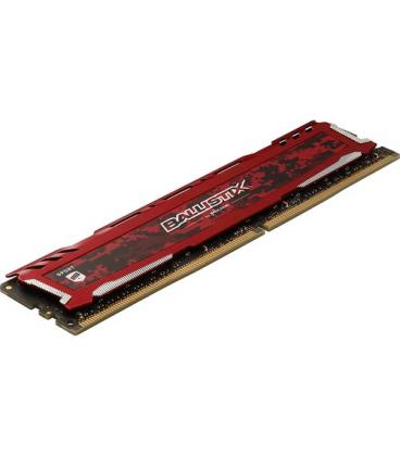 MEMORIA CRUCIAL DIMM DDR4 4GB 2666MHZ (PC4-21300) CL16 SR BALLISTIX SPORT LT ROJA