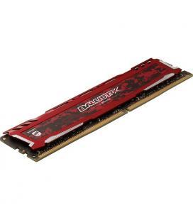 MEMORIA CRUCIAL DIMM DDR4 8GB 2666MHZ (PC4-21300) CL16 SR BALLISTIX SPORT LT ROJA
