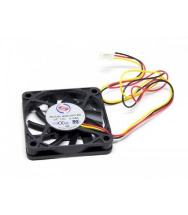 VENTILADOR 60x60x10mm 12VDC 0.24Amp 3 HILOS LYNX - Imagen 1