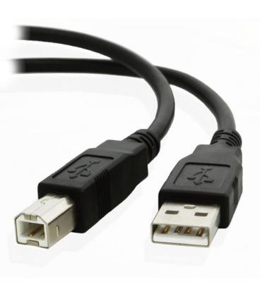 CABLE USB NANO CABLE USB2.0 A/M - USB2.0 B/M 1.0M NEGRO IMPRESORA