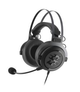 Sharkoon SKILLER SGH3 Binaural Diadema Negro, Titanio auricular con micrófono